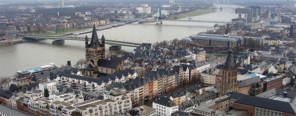 Cologne: Ariel view