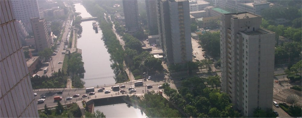 Beijing: Ariel view of the city