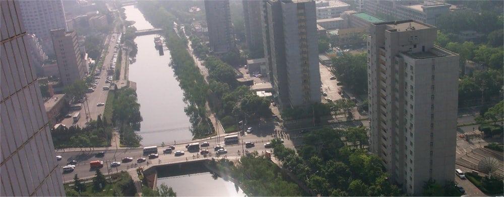 Beijing: Ariel view of the city