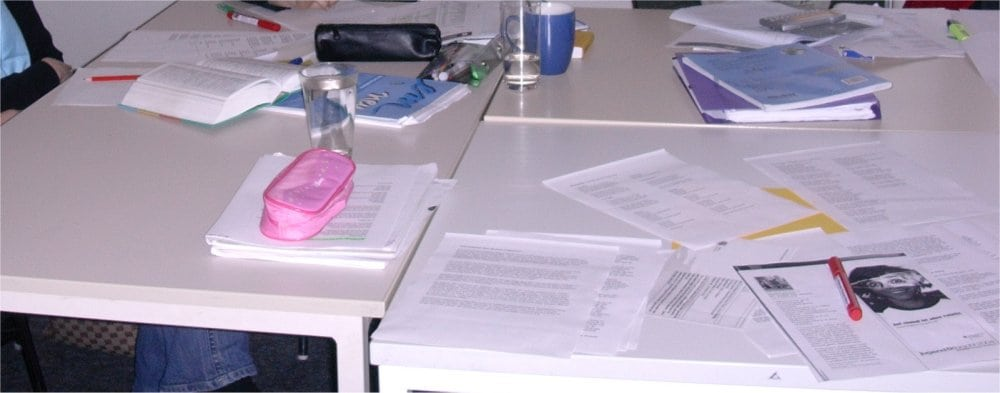 Lindau: Desks and work