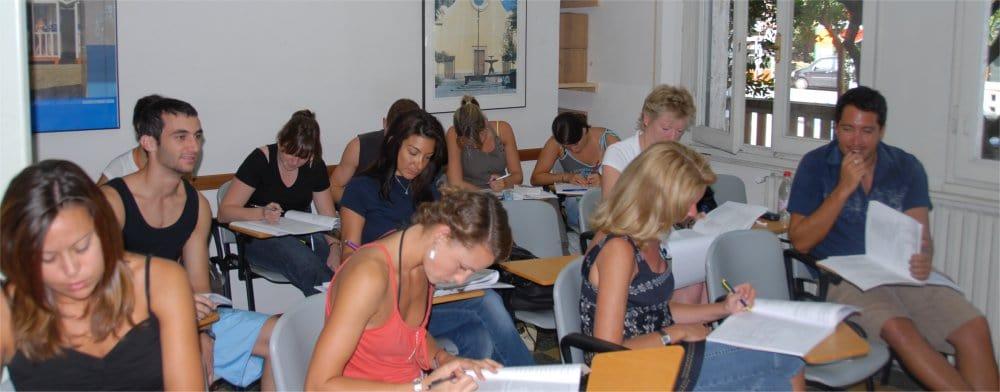 Viareggio: Students in class