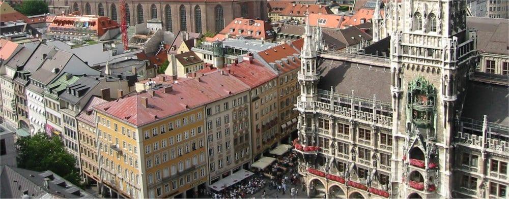 Munich: Ariel city centre