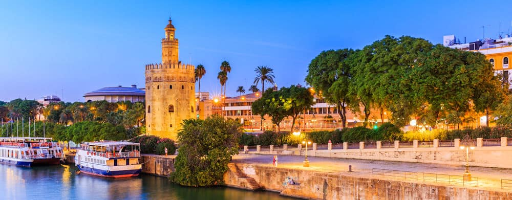 Seville River view of the city