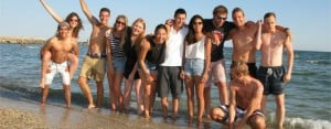 Montpellier: Students at the beach