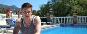 Malaga Student by school pool