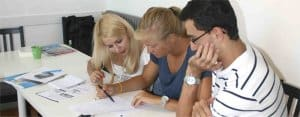 Biarritz: Students in school