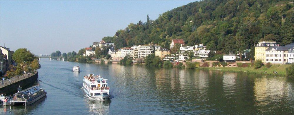 Heidelberg: Boat on the River Necker