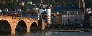 Heidelberg: View of city from river