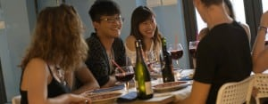 Salamanca: Student meal with wine