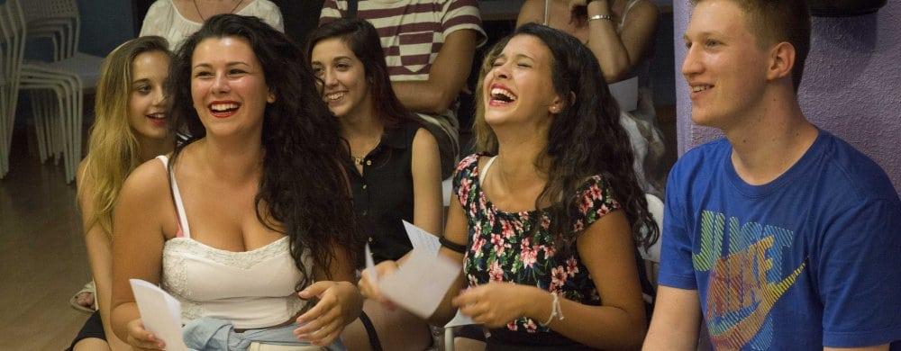 Salamanca: Laughing in class