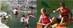 Salamanca: Jumping and kayaking