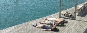 Barcelona: Sun bathing