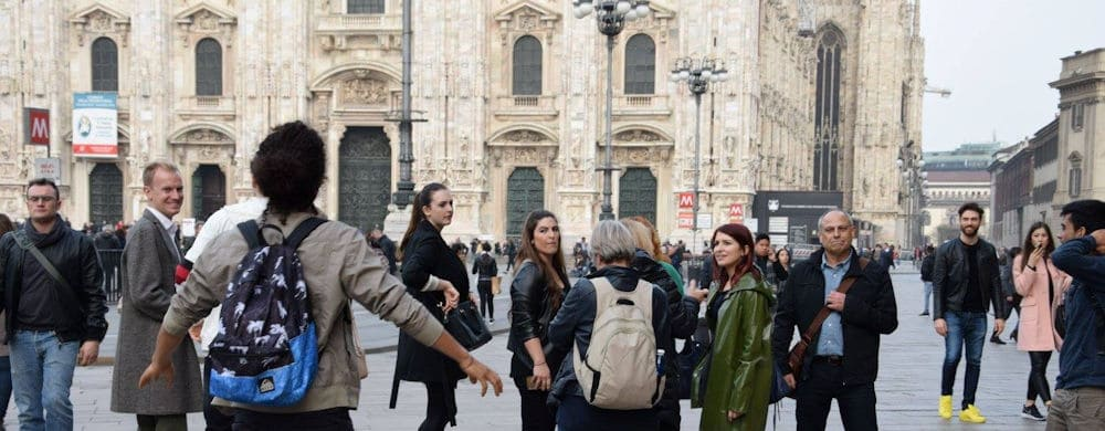 Milan: In front of the cathedral