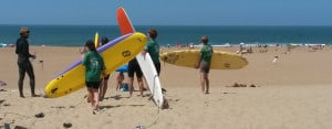 Biarritz Teens Surfing