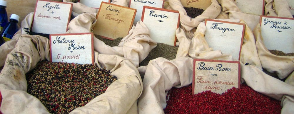 Spices in Provence market