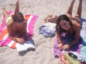 Antibes Teens: Charlotte On the beach
