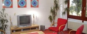 Berlin Hostel TV room
