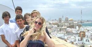 Teenagers in Cadiz