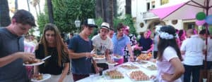 Cannes Evening meal on campus