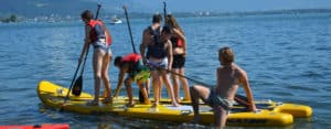 Lindau Teens: Paddle boarding on the lake