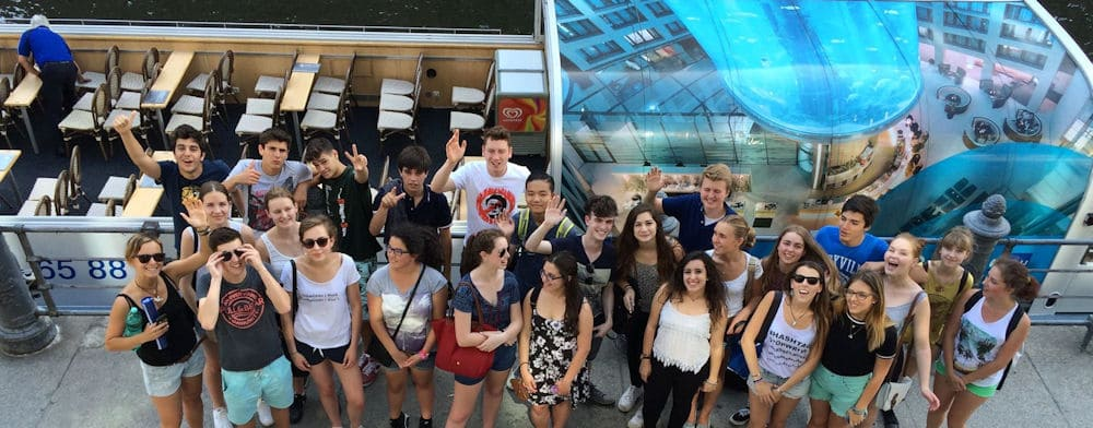 Berlin Teen: German language students on boat trip