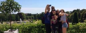 Berlin Teen: Student selfie shot on an excursion