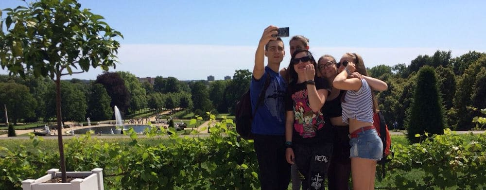 Berlin Teen: Student selfie shot on an excursion