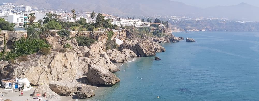 Nerja: Beach view from Balcon de Europa